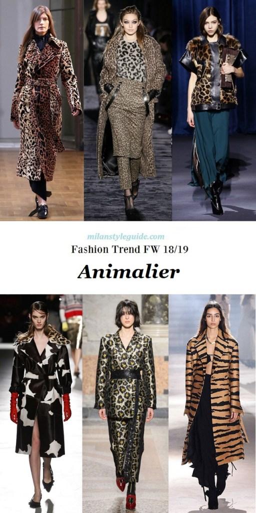 Fashion trend Fall winter 18 trend animalier
