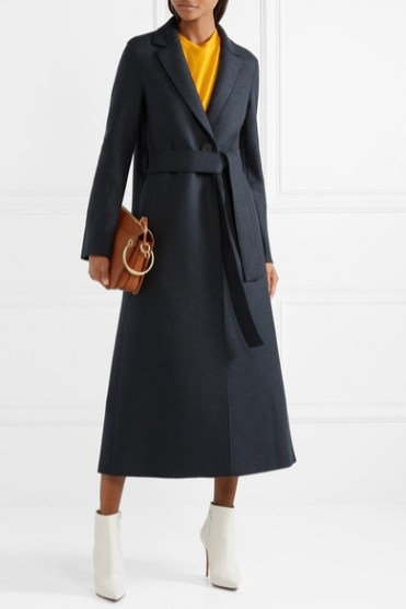 модное длинное пальто осень 2018