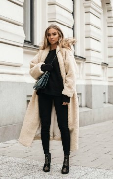 как носить модное пальто Teddy bear осень зима модно 2018 2019