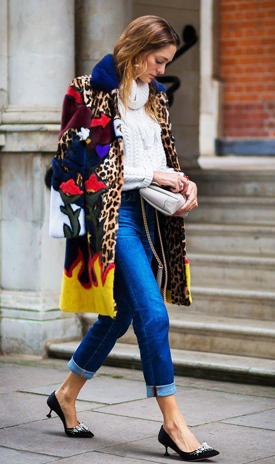 как носить леопардовый тренд с яркими цветами