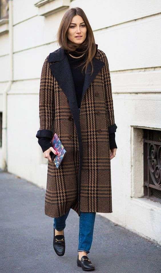 мода осень 2018 модное пальто стрит стайл Милан