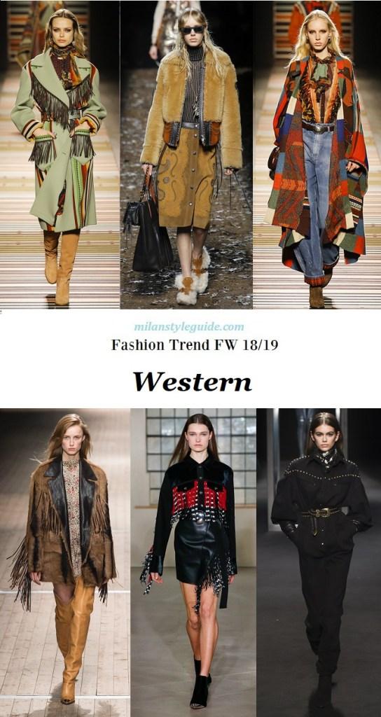 модные тенденции осень зима 2018 2019 тренд дикий запад и ковбои