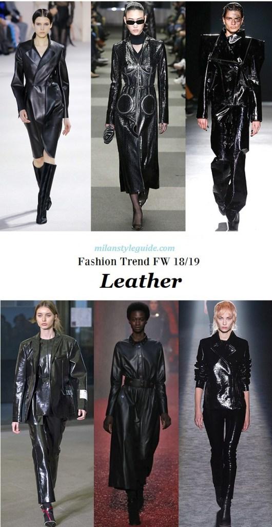 fashion trend fall 2018 2019 Leather
