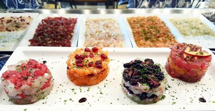 тартар из рыбы - вкусные ресторан в Милане