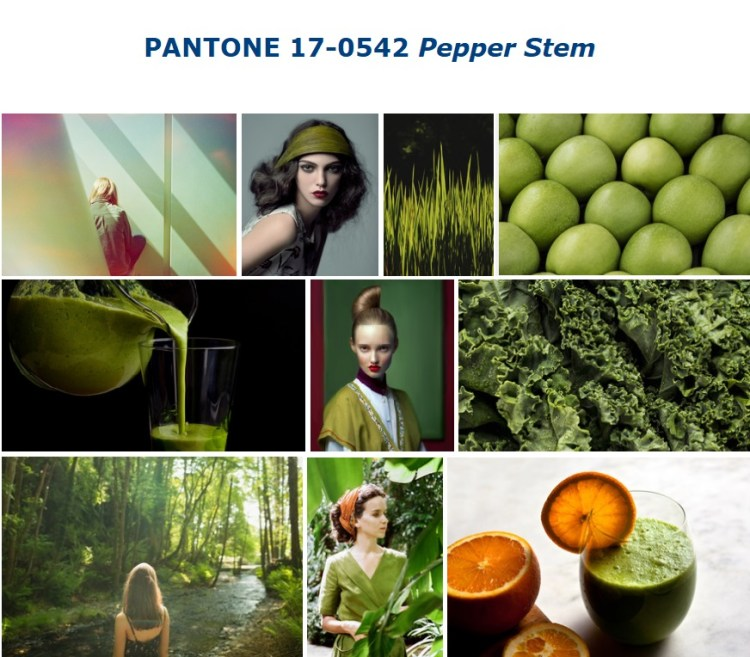 PANTONE 17-0542 Pepper Stem стебель перца