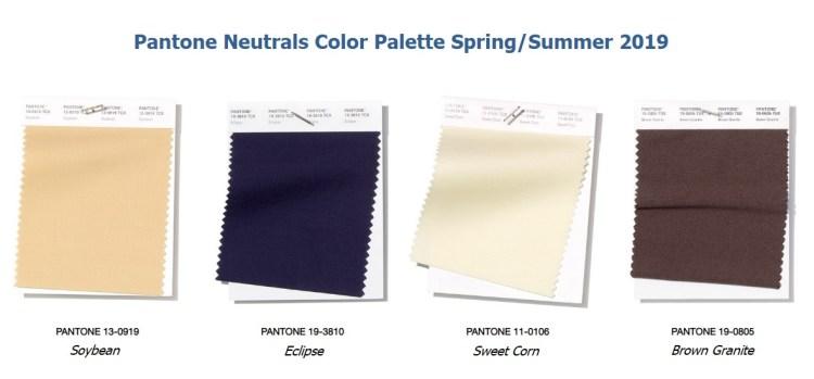 модные цвета Panton весна лето 2019 нейтральная палитра