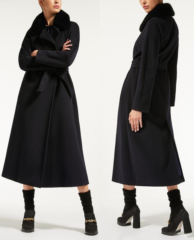 длинное пальто Макс Мара из кашемира осень зима 2018 - 2019