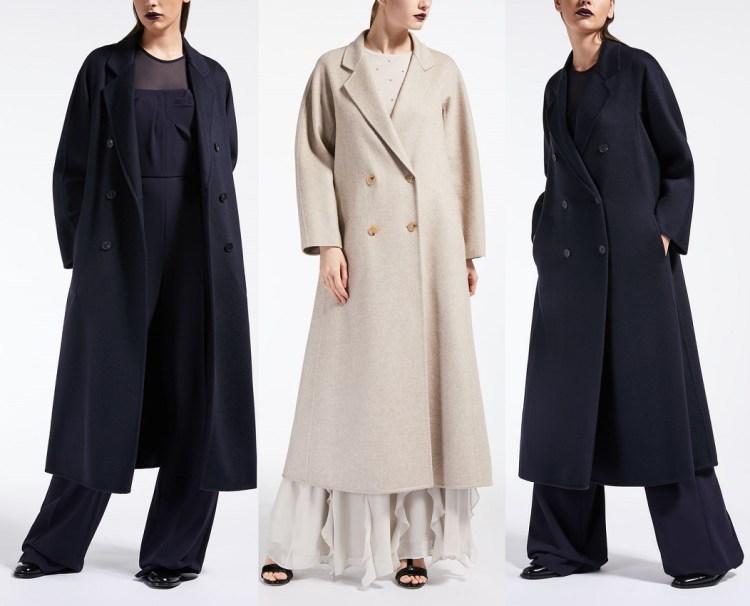 модное пальто Макс Мара длинное осень 2018