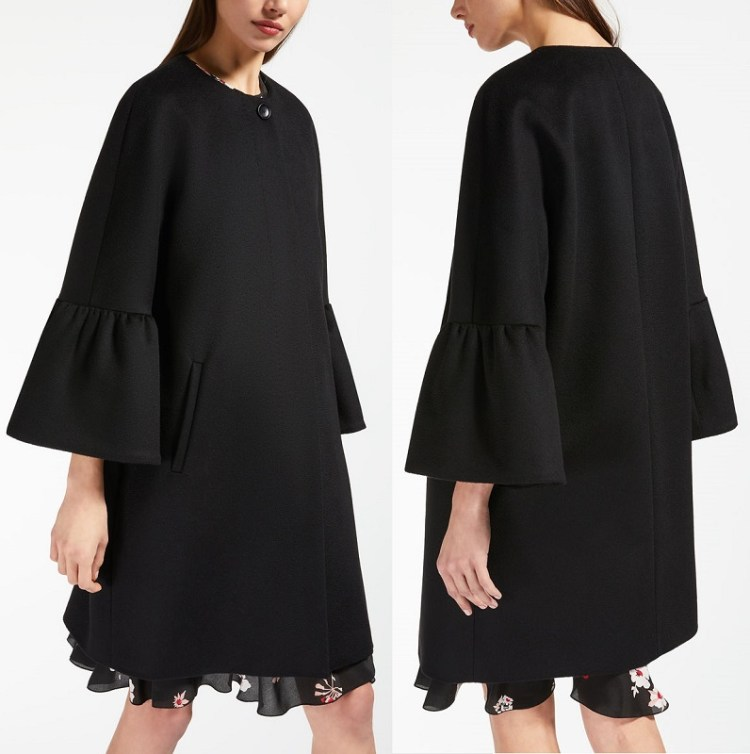 недорогое елегантное черное пальто Макс Мара