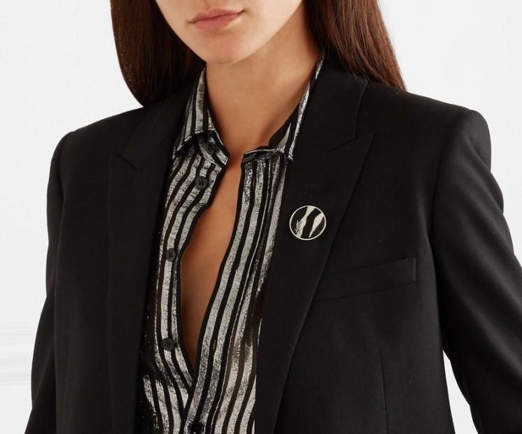 как правильно стильно носить брошь в офисе дресс-код