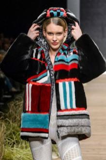 Fabio Gavazzi модная итальянская шуба из норки зима 2019 в Милане