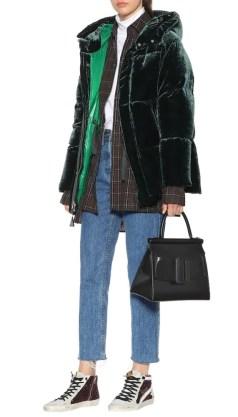 Moncler 2018 модный пуховик италия из бархата - тренд зима 2018 2019