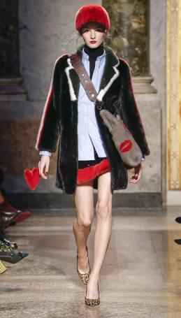 Simonetta Ravizza модная итальянская шуба из норки зима 2019 в Милане