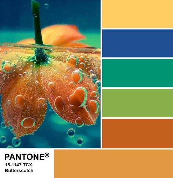 PANTONE 15-1147 Butterscotch palette