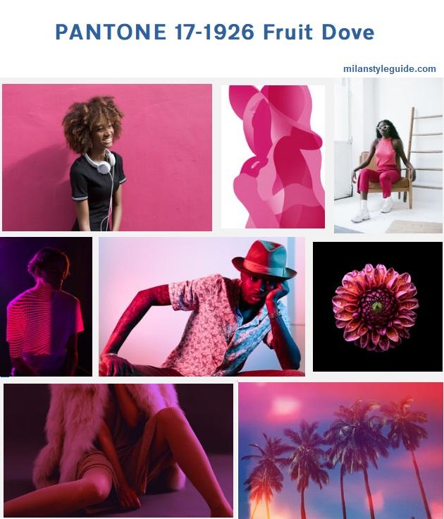 цвет осени розовый PANTONE 17-1926 Fruit Dove модный цвет осень зима 2019/2010