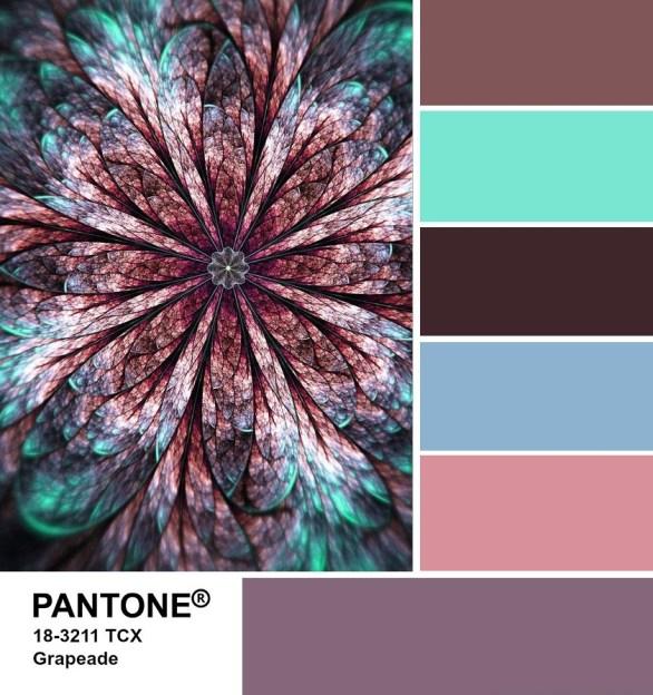PANTONE 18-3211 Grapeade palette