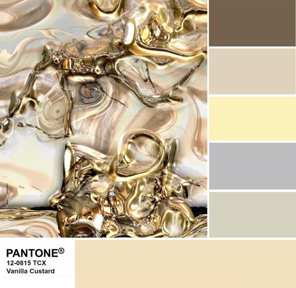 Pantone 12-0815 Vanilla Custard palette
