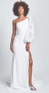 Alexandra Grecco модное свадебное платье с одним плечет 2020