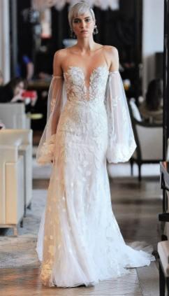 модные свадебные тенденции 2020 - свадебное платье с пышными рукавам Ines di Santo wedding dresses spring 2020