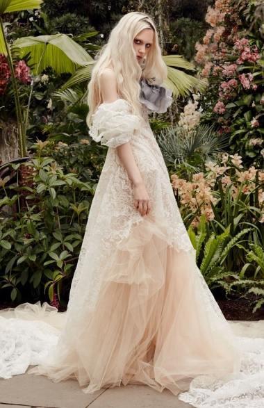 Vera Wang wedding dresses spring 2020 модные свадебные тенденции 2020 - свадебное платье с пышными рукавам