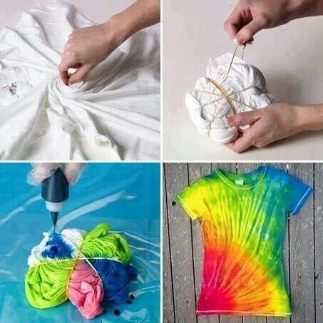 как сделать футболку модной tie & dye
