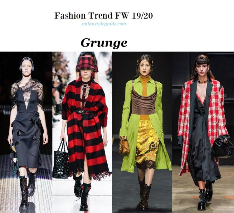 модный тренд Осень зима 19/20 стиль гранж
