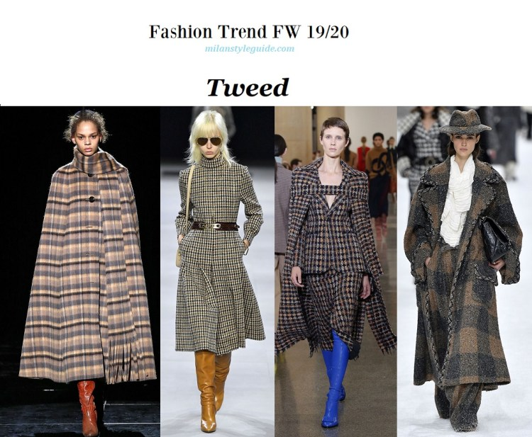 Fashion trend fall winter 2019-2020 Tweed