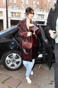 модное кожаное пальто мода 2019 осень как носить