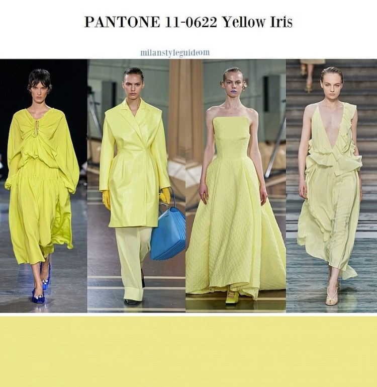 модные цвета весна лето 2020 fashion color trend 2020 11-0622 Yellow Iris