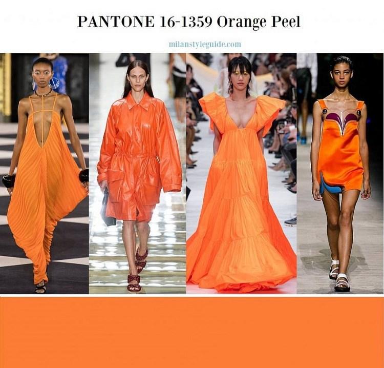 модные цвета весна лето 2020 PANTONE 16-1359 Orange Peel