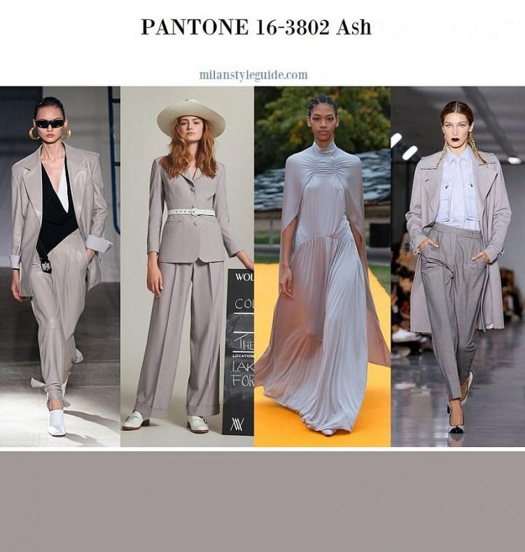 модные цвета весна лето 2020 Color trend SS 2020 Pantone 16-3802 Ash