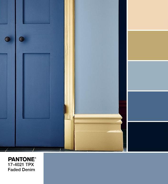 модные цвета весны и лета 2020 PANTONE 17-4021 Faded Denim