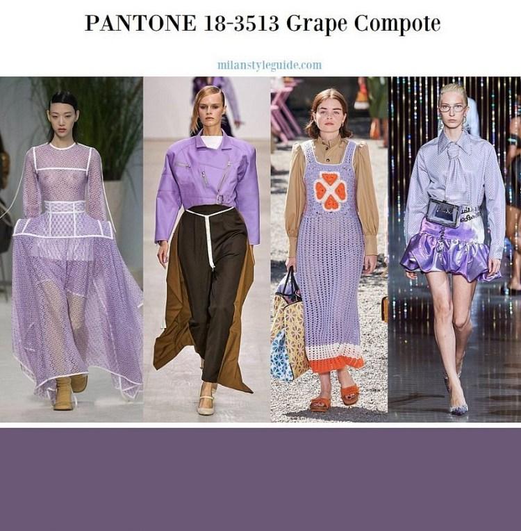 модные цвета весна лето 2020 18-3513 Grape Compote