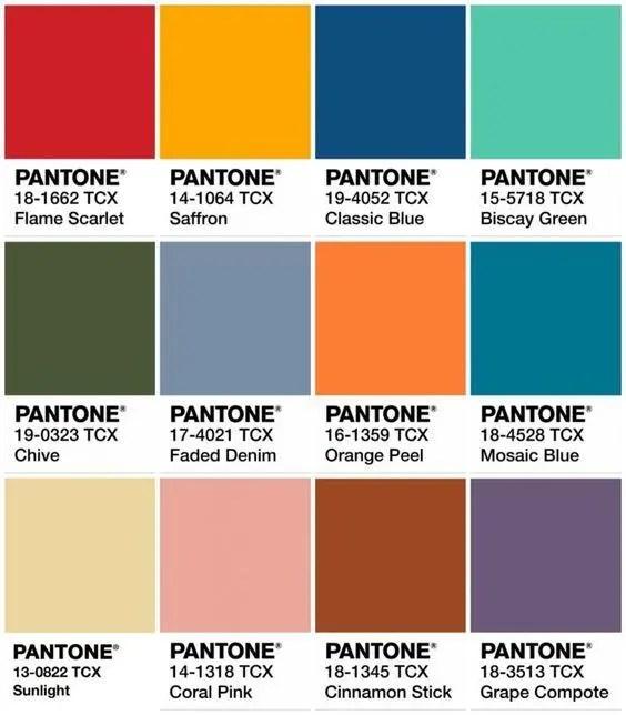 палитра Pantone 2020 фото