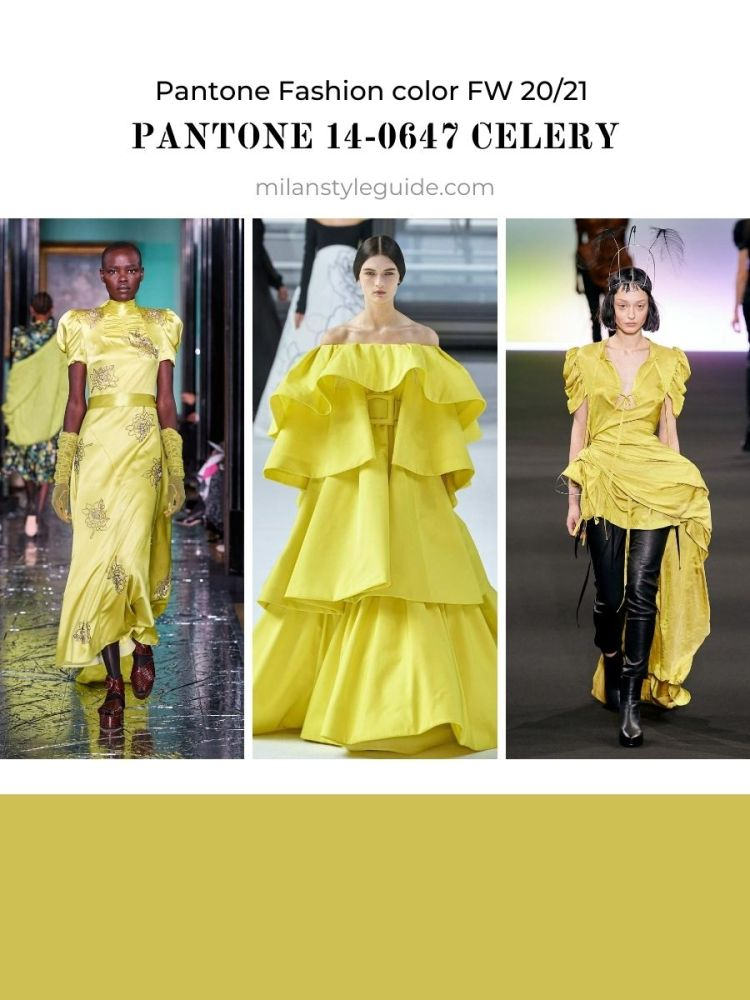 Fashion color trend Fall Winter 2020 2021
