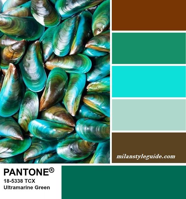 PANTONE 18-5338 Ultramarine Green - Ультрамариновый зеленый