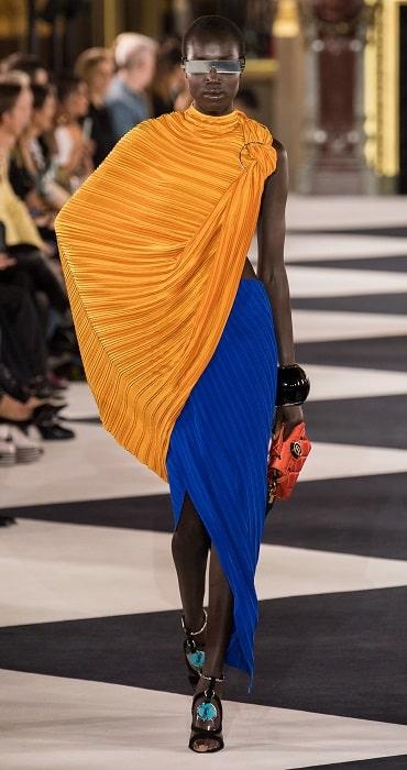 плиссированная юбка Balmain 2020