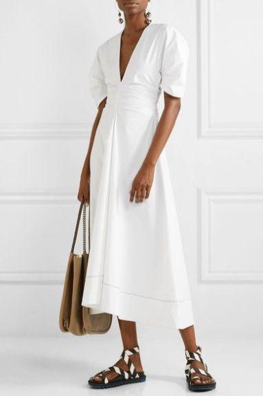 модное белое платье 2020 лето