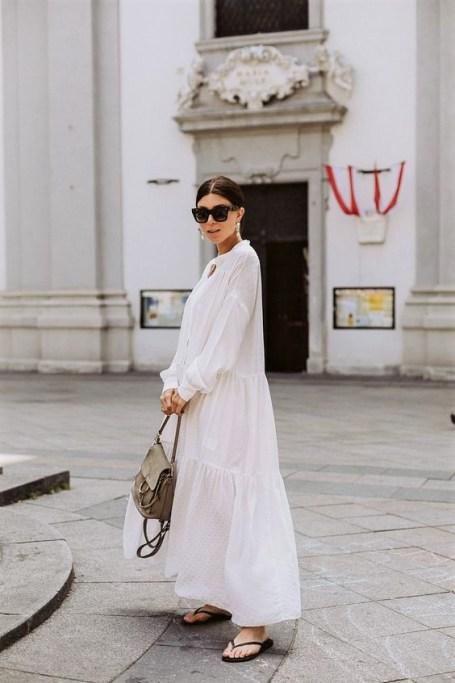 модное белое платье 2020
