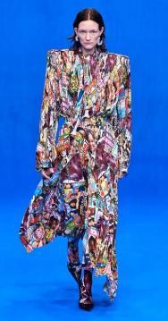 плиссированная юбка платье Balenciaga 2020