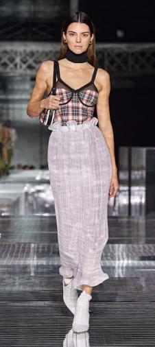 юбка плиссе burberry мода осень зима2020