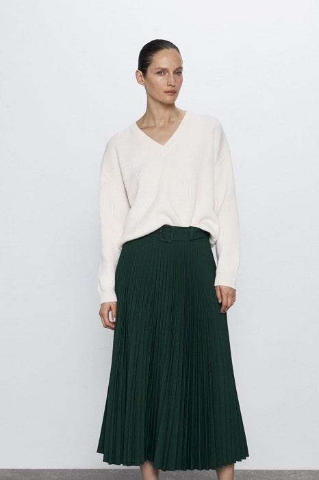 Плиссированая юбка Зара