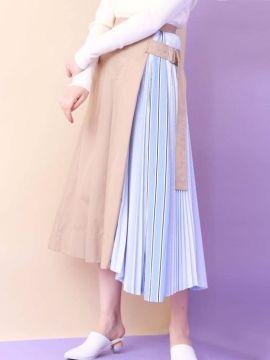 оригинальная модная юбка плиссе комбинированая