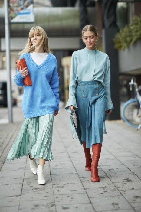 модная юбка плиссе с чем носить