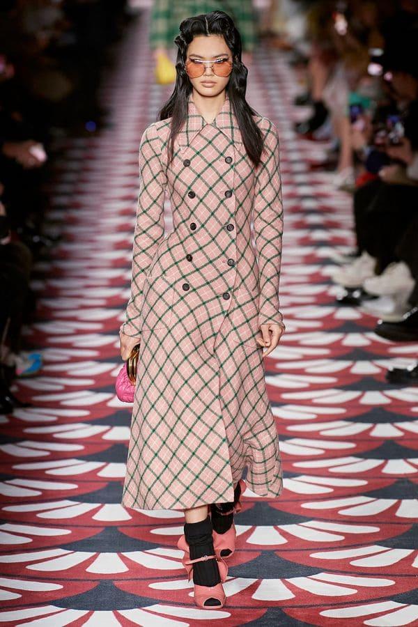 модное пальто Miu miu в клетку 2020 2021