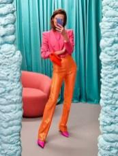 как модно сочетать розовый и оранжевый