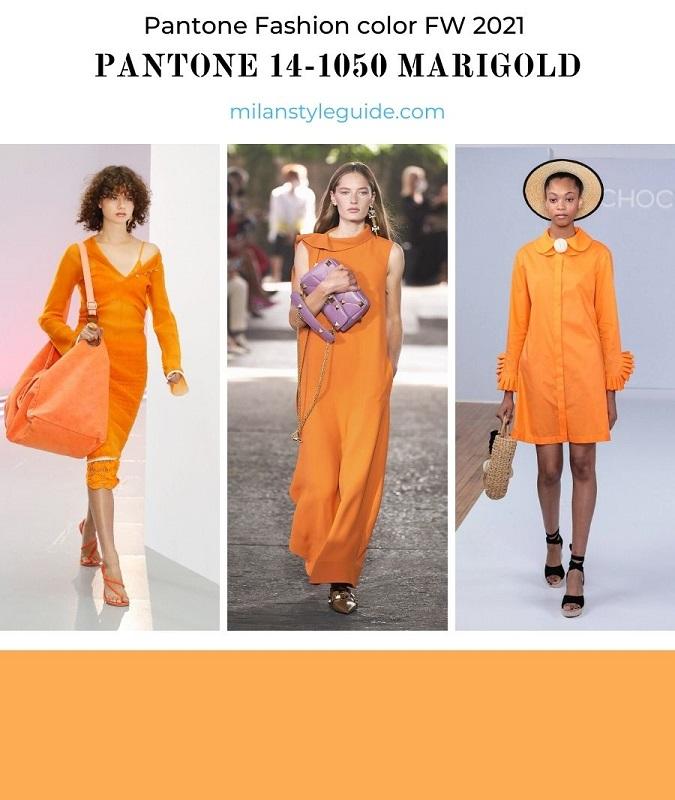 модный цвет весна лето оранжевый PANTONE 14-1050 Marigold - Бархатцы
