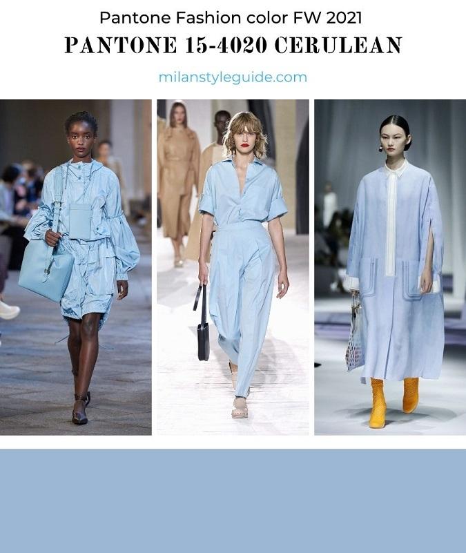модный цвет весна лето голубой PANTONE 15-4020 Cerulean - Лазурный