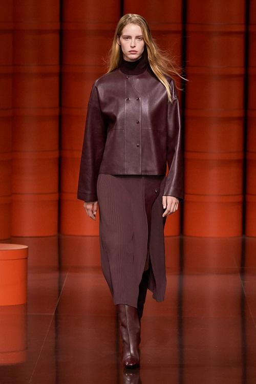 Hermes самые модные кожаные куртки осень 2021