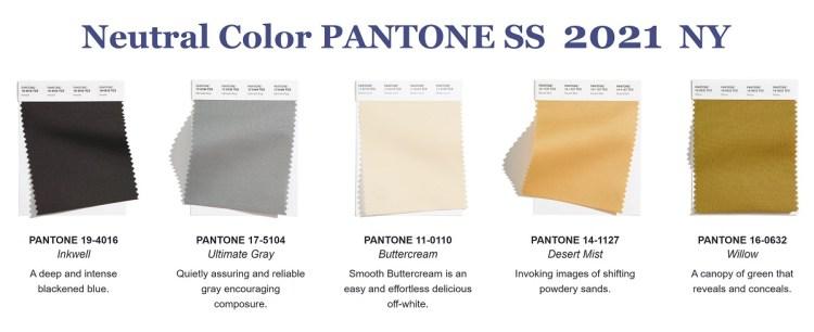 модные цвета Пантон весна лето 2021